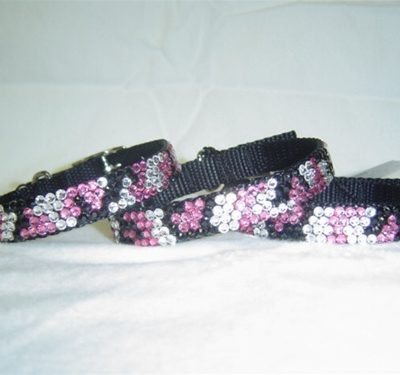Urban Jungle Rose-Jet Camouflage Swarovski Collar