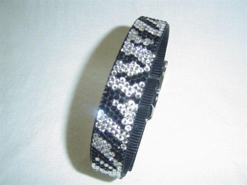 Urban Jungle Zebra Swarovski Collar