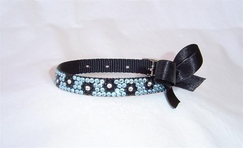 Posh Pooch Blue Blossom Swarovski Collar