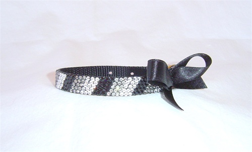 Posh Pooch Midnight Black Swarovski Collar