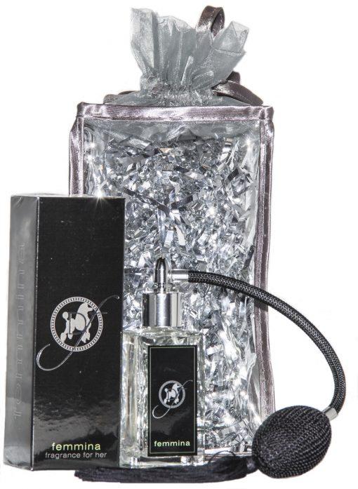 femmina perfume packaged as a female dog gift