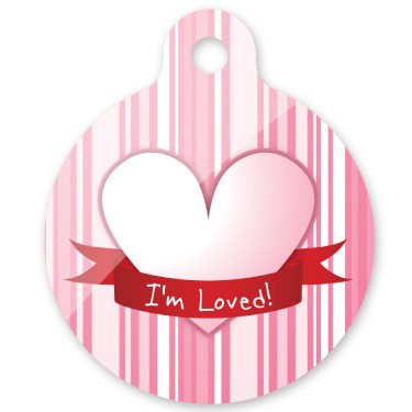 i'm loved dog ID tag with QR code to protect and find your dog within hours