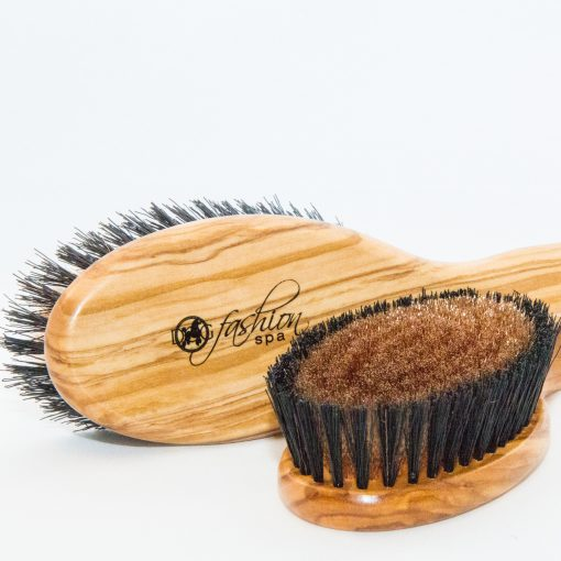 bronze ionic positive charge grooming brush for dogs with short coats
