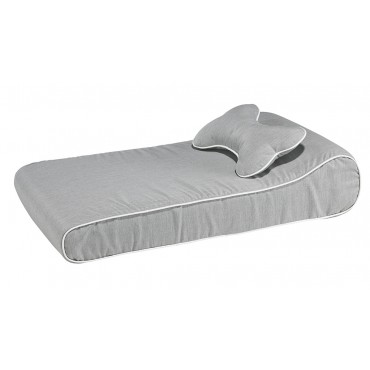 Contour Lounger Heather Grey LRG