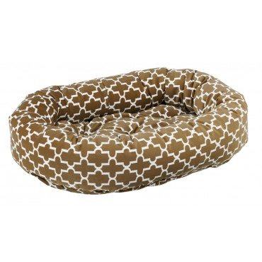 Donut Bed Cedar Lattice