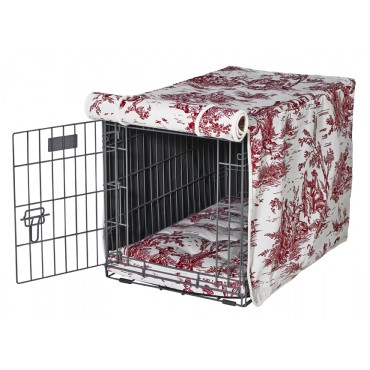 Crate Cover Raspberry Toile