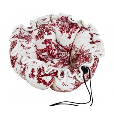 Buttercup Raspberry Toile