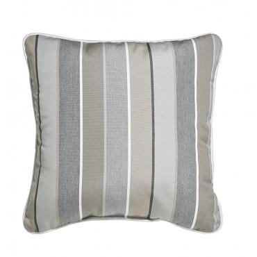 "Outdoor Throw Pillow Square Boardwalk Stripe 16""x16"""
