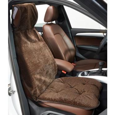 Single Seat Cover Chocolate Bones