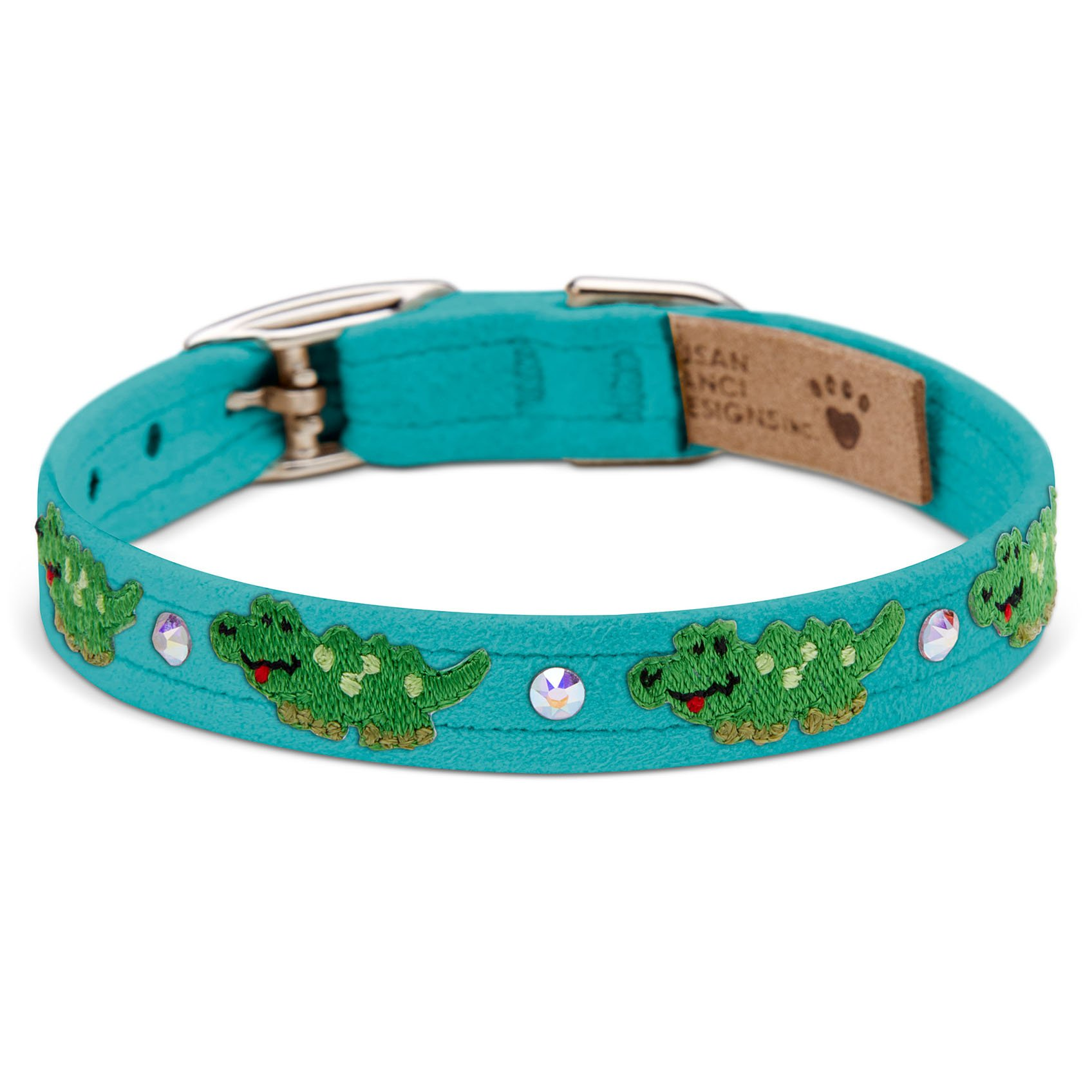 Embroidered Alligators Collar