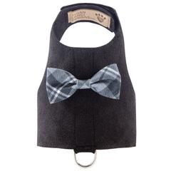 Scotty Bailey Harness Charcoal Plaid Bow Tie