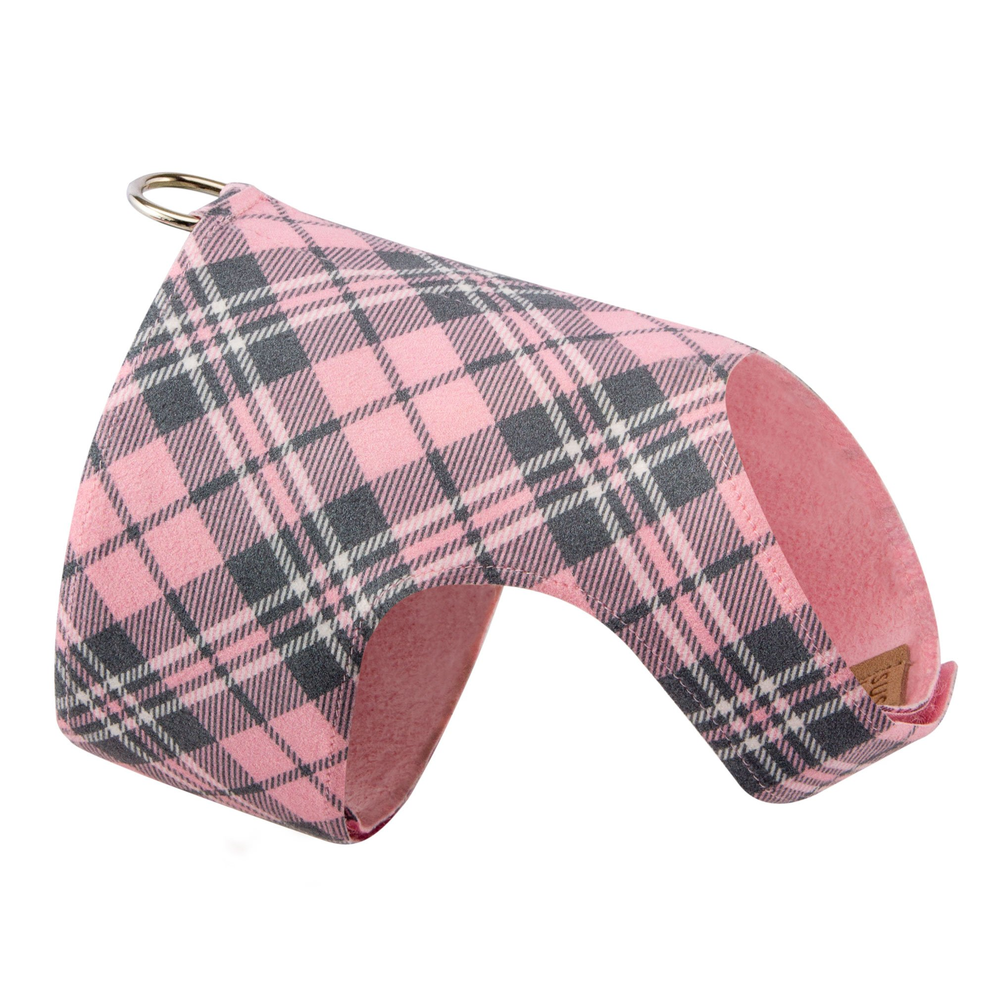 Scotty Bailey Harness Puppy Pink Plaid