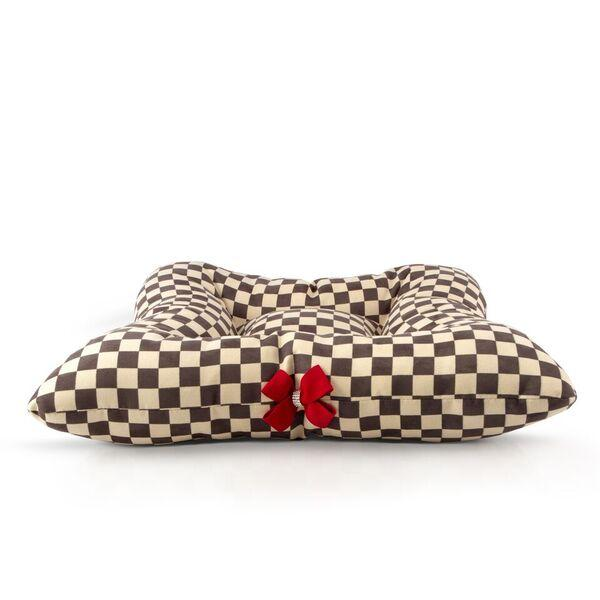 Windsor Check Square Bed with Red Nouveau Bow