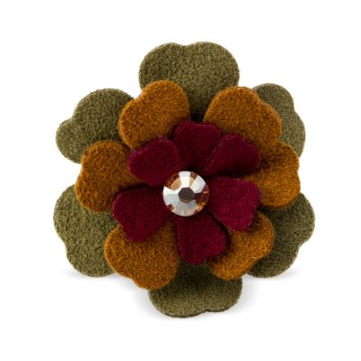 Autumn Flower Hair Bow