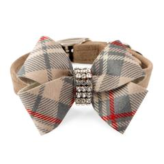 Scotty Collar Doe Plaid with Nouveau Bow