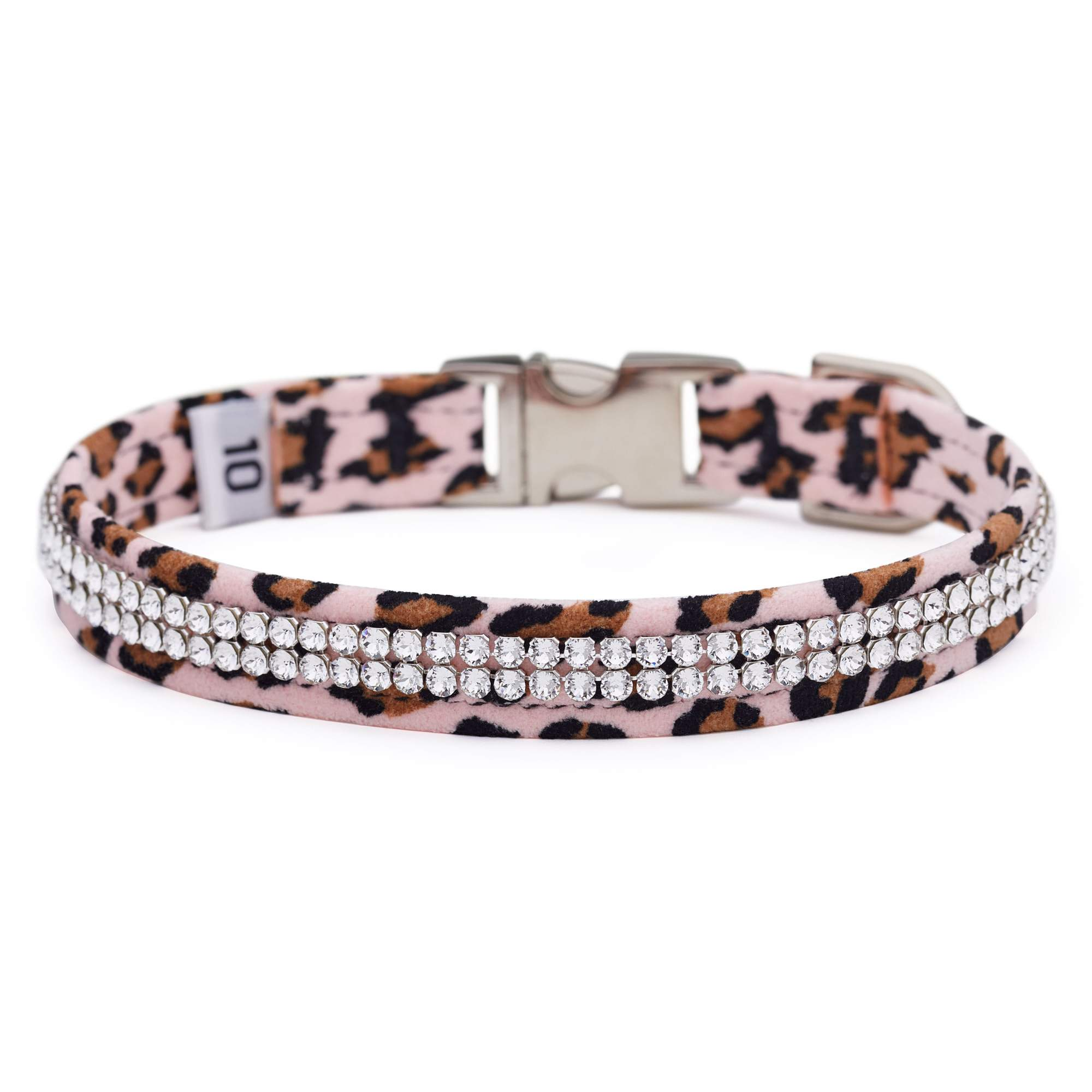 Pink Cheetah 2 Row Giltmore Perfect Fit Collar