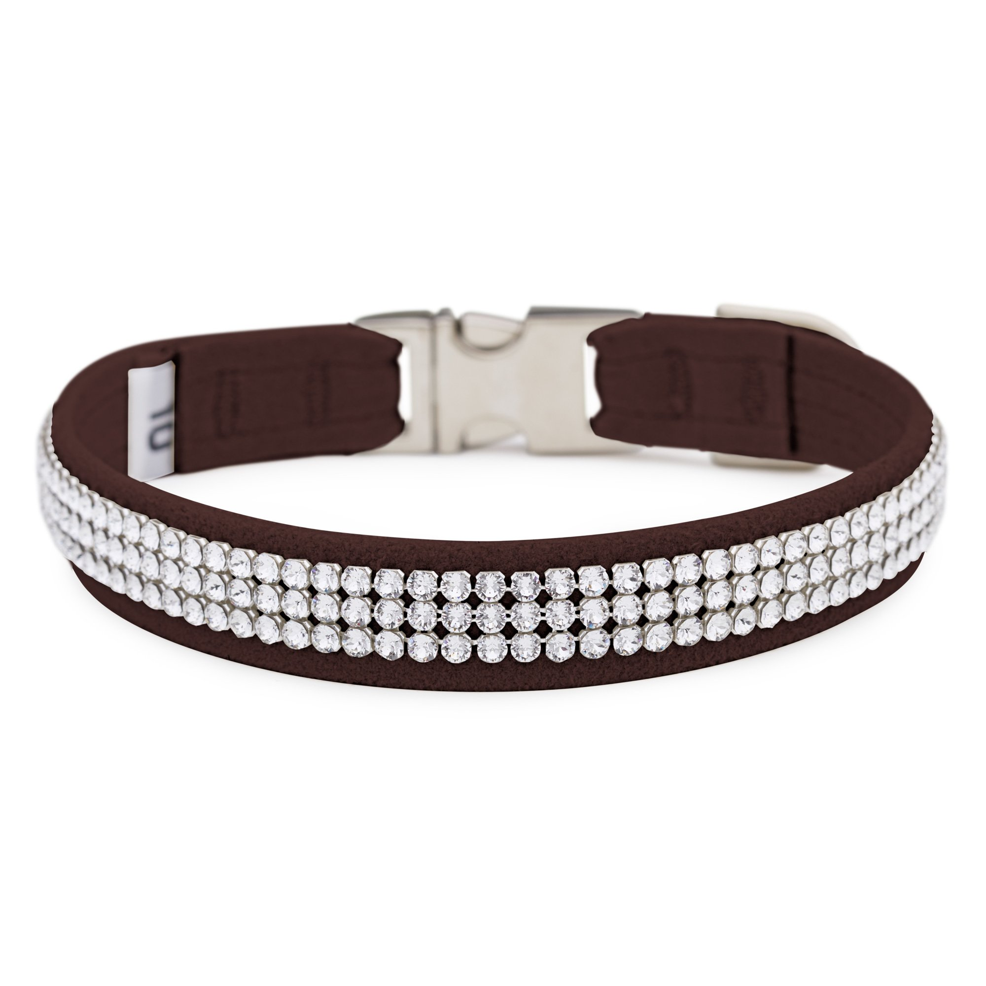 Chocolate 3 Row Giltmore Perfect Fit Collar