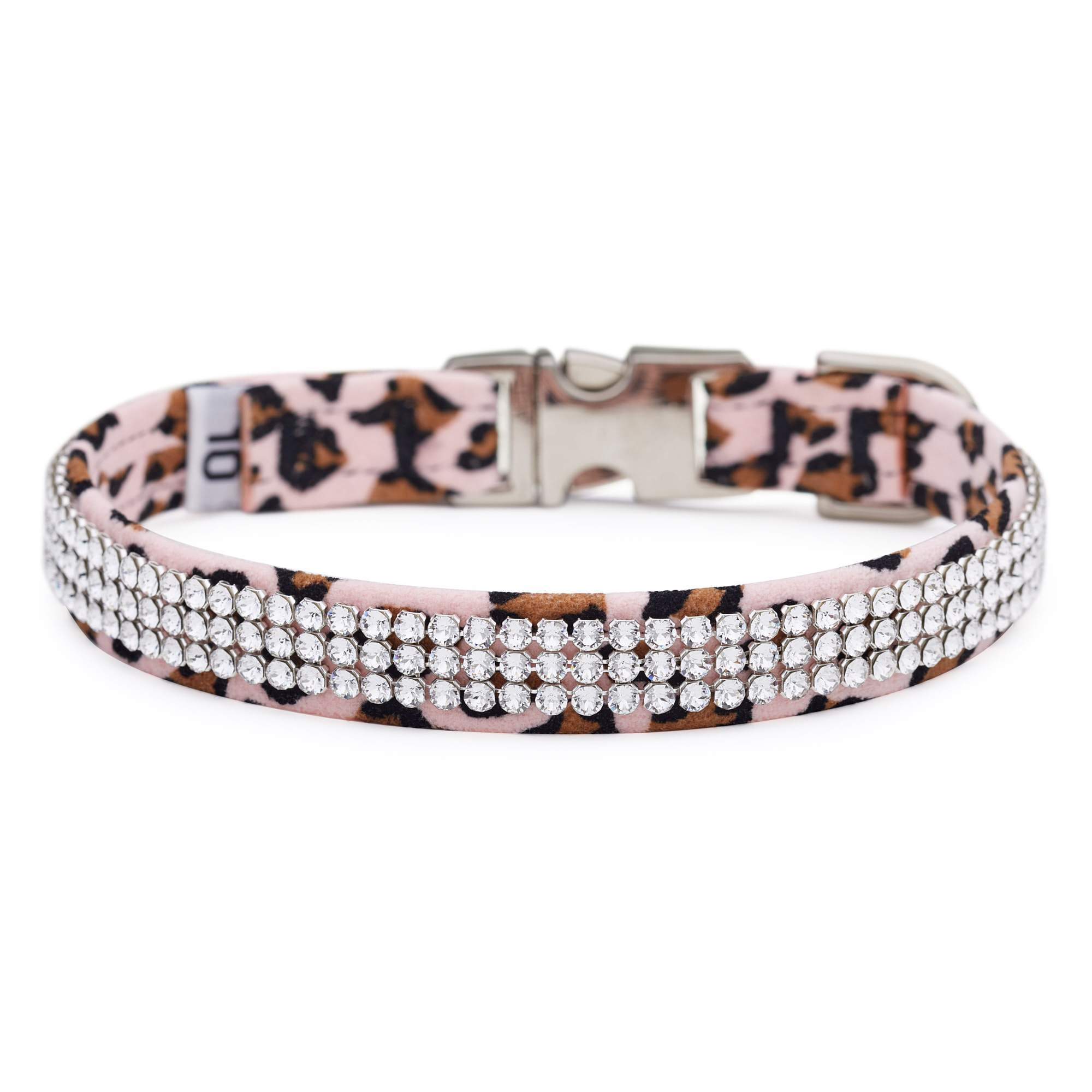 Pink Cheetah 3 Row Giltmore Perfect Fit Collar