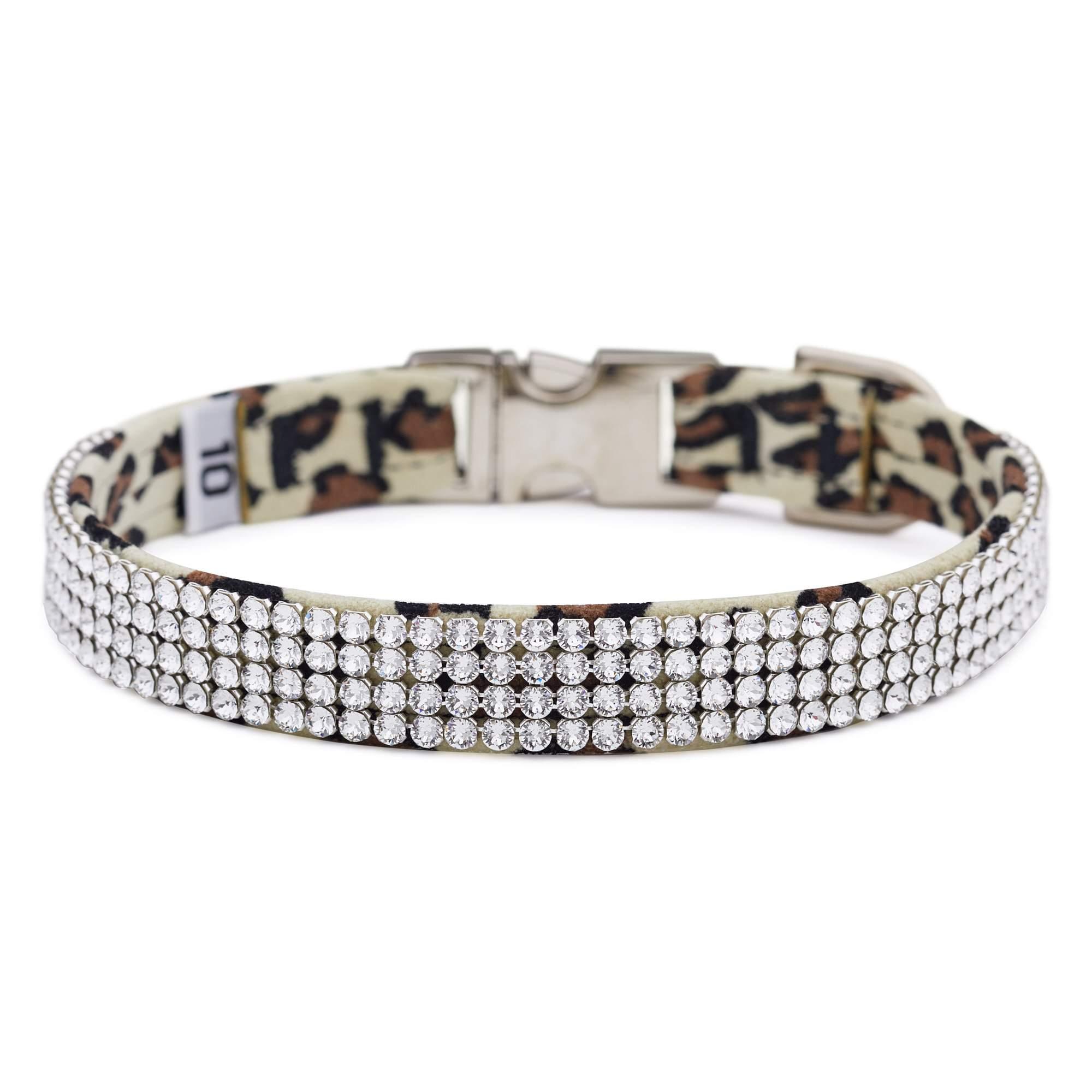 Cheetah Light 4 Row Giltmore Perfect Fit Collar