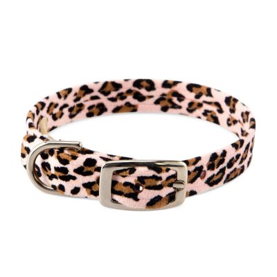 Pink Cheetah Plain Collar