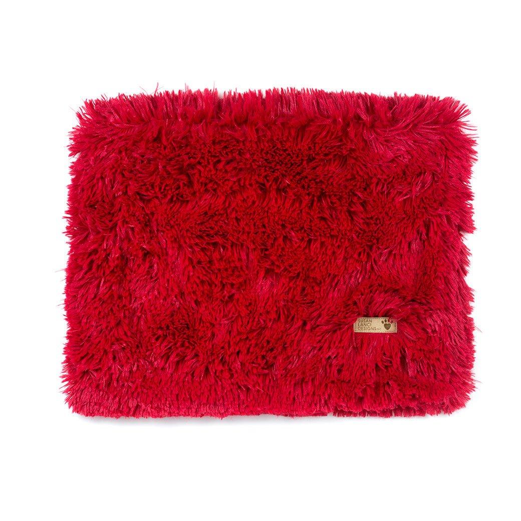 Red Shag Blanket