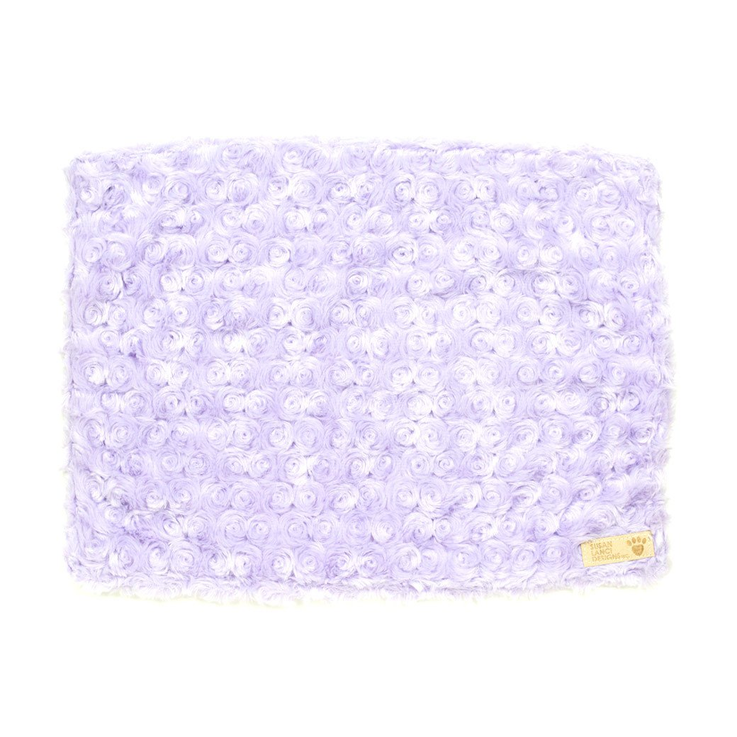 French Lavender Curly Sue Blanket