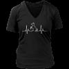 Dog Heartbeat Ladies V-Neck