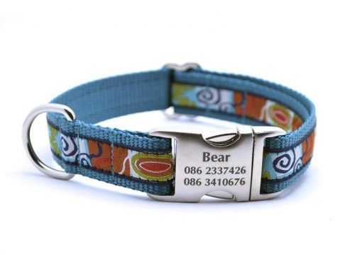 Contempo Dog Collar with Personalized Buckle