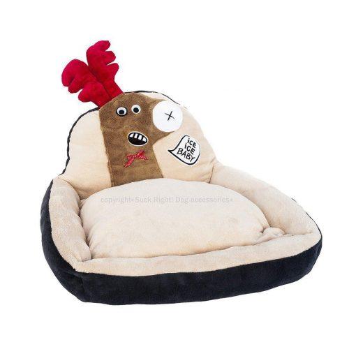 Beige Reindeer Dog Bed