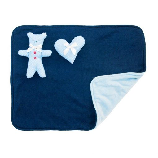 Blue Dotty Dog Blanket With Toys