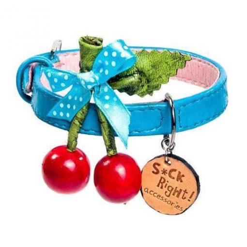 Cherry Azzuro Dog Collar