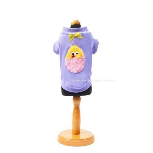 Chicken Egg Purple Dog Shirt