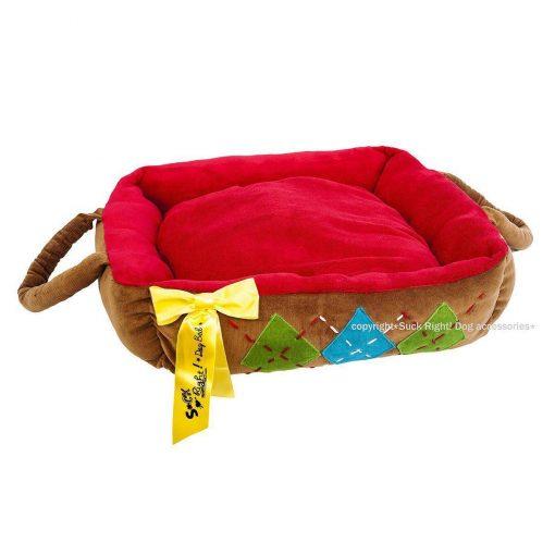 Choco And Tartan Dog Bed