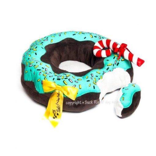 Chocolate And Pistacio Glazed Donut Dog Bed