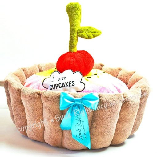 Cupcake Dog Bed With Toys
