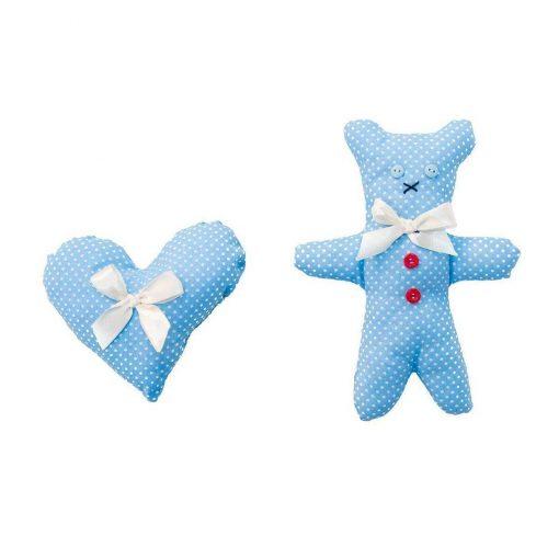 Dotty Bear And Heart Dog Toy Set