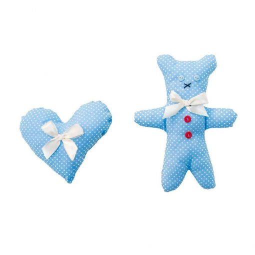 Dotty Bear And Heart Dog Toy Set