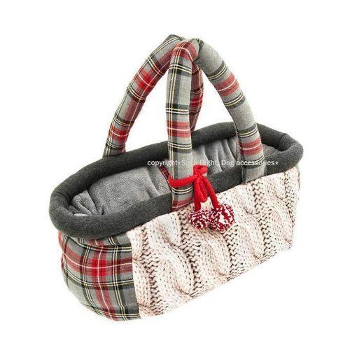 English Knitted Basket Bag Dog Carrier