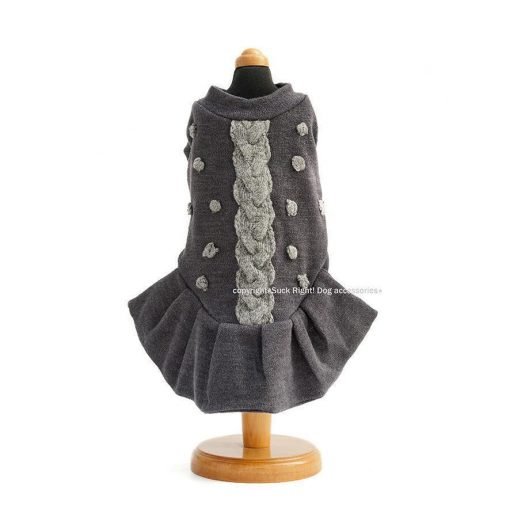 English Knitted Candy Dog Dress