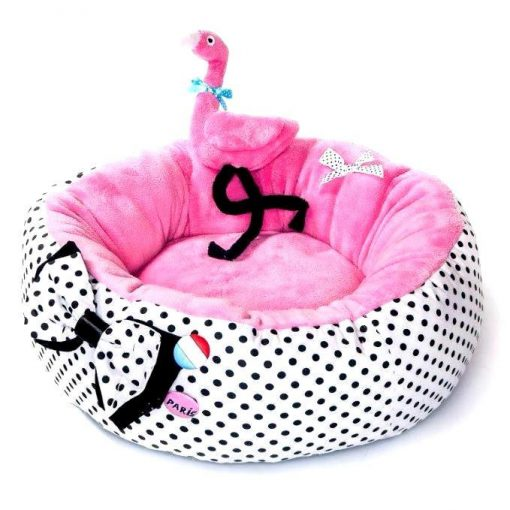 Flamingo Dog Bed And Toy
