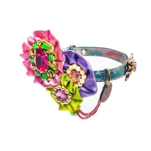Glamour And Pink Nail Dog Collar
