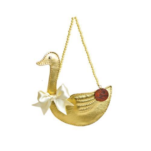 Gold Swan Poop Bag Holder