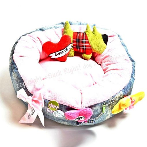 Green Dog Bed With Toys