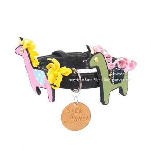 Hermés Ponies Dog Collar