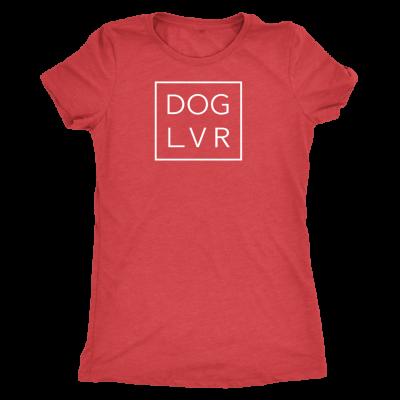 DOG LVR LADIES TRIBLEND TEE