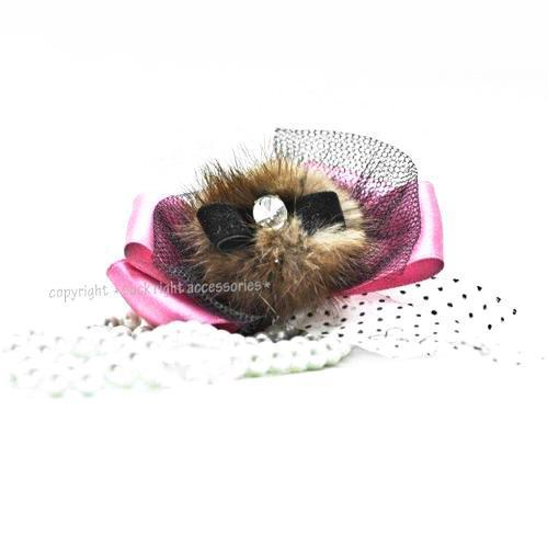 Madonna Furry Dog Necklace