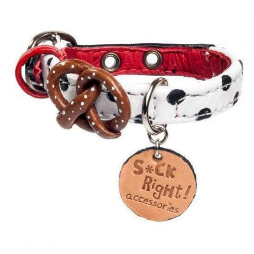 Paris Pretzel Dog Collar