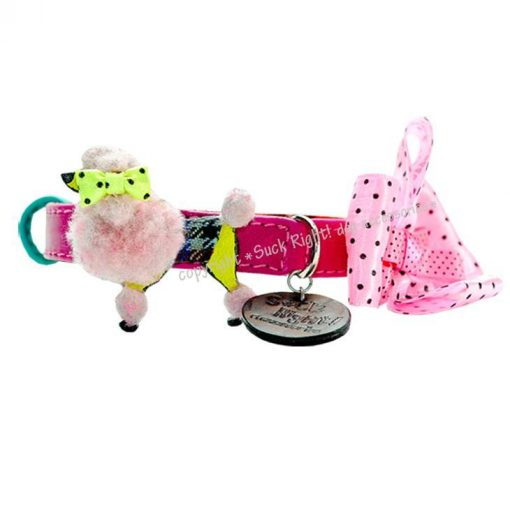 Pink And Poodle Dog Collar