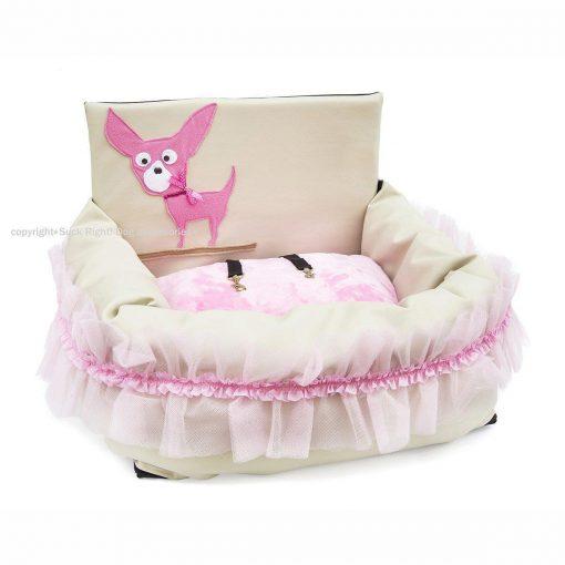 Pink Chihuahua Driving Kit Dog Car Seat