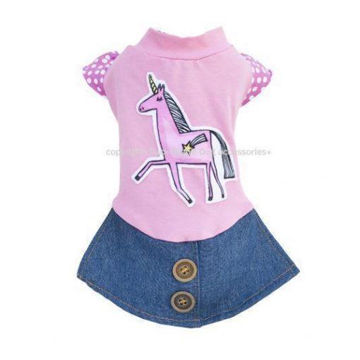 Pink Unicorn Dog Dress